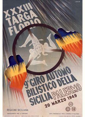1948 XXXIII Targa Florio Racing Poster