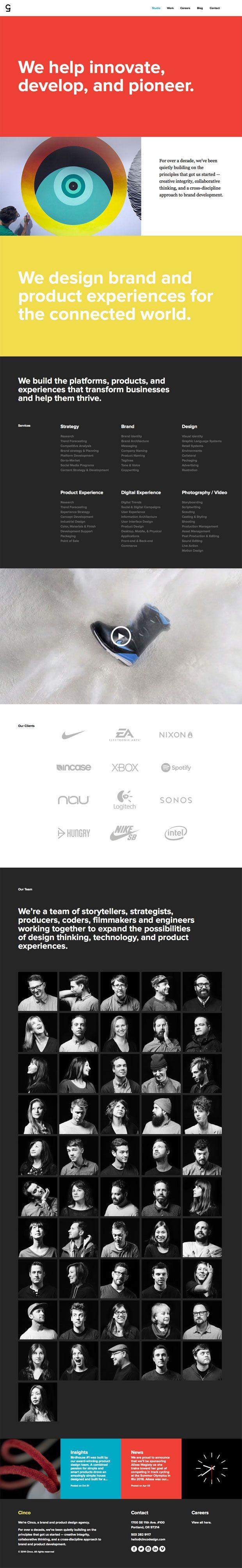 Unique Web Design, Cinco via @bluehall #WebDesign #Design