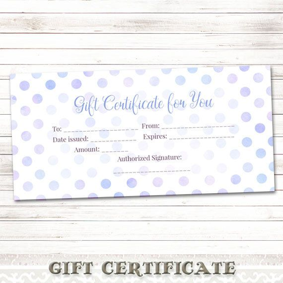 Printable Gift CertificatePink Watercolor by DigitalDesignPaper