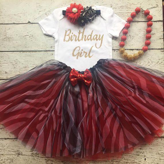 Birthday girl onesie/Firstbirthday/ tutu/red zebra tutu set /photo prop/ 1st birthday outfit/ birthday tutu/ safari birthday/jungle theme