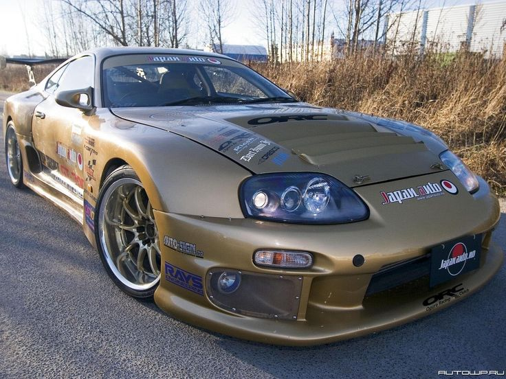 "Toyota Supra.  A bit ""blingy"" for me, but nothing a paint job wouldn't take care of :)."