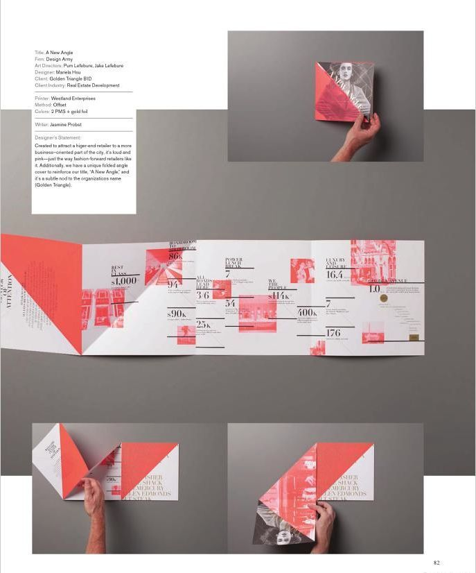 Creative brochure fold: