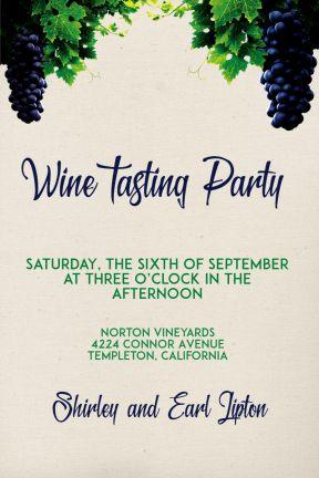 Design amazing party invitations on PixTeller.com #templates #images #photomaker #celebration #inspirational #wine #wineanddine