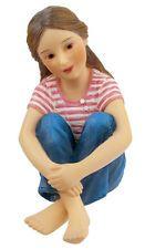 Dollhouse Miniatures Sitting Becky Resin Doll Item #HW3022