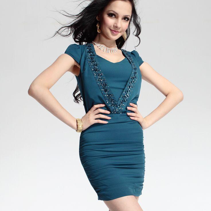 queen-anne-column-short-natural-waist-beaded-elastic-woven-satin-evening-dress