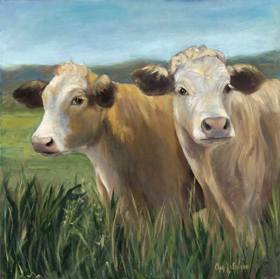 i have a thing for cow art...