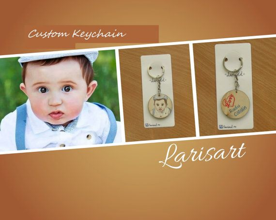 Custom Keychain Personalized Keychain Birthday Gift by LarisArtRo