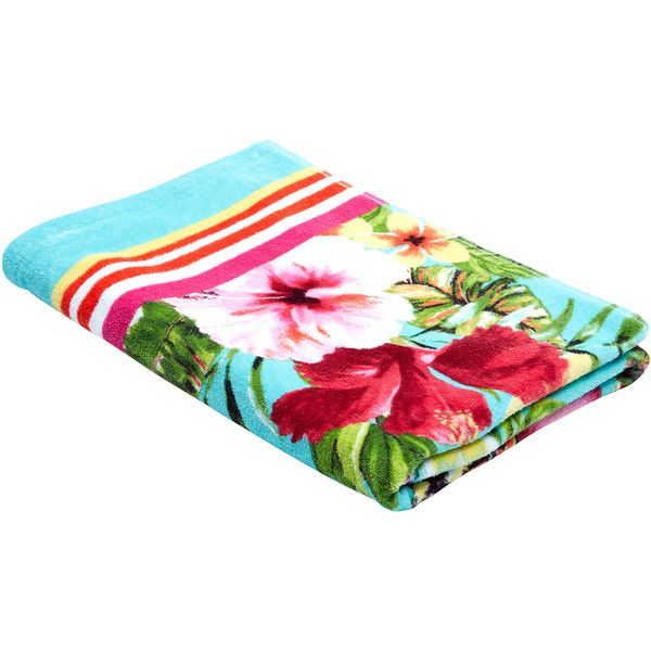Monsoon Vintage Tropical Beach Towel ($35) ❤ liked on Polyvore featuring home, bed & bath, bath, beach towels, filler, extras and swimwear