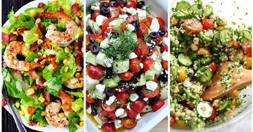 10 insalatone salva linea facili e gustose