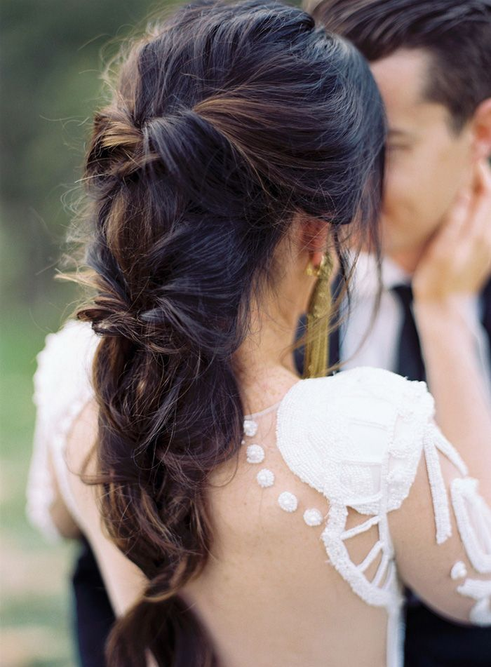 Wrapped Bridal Braid Hairstyle