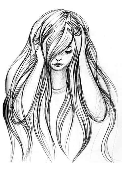 Раскраска волосы длинные сих