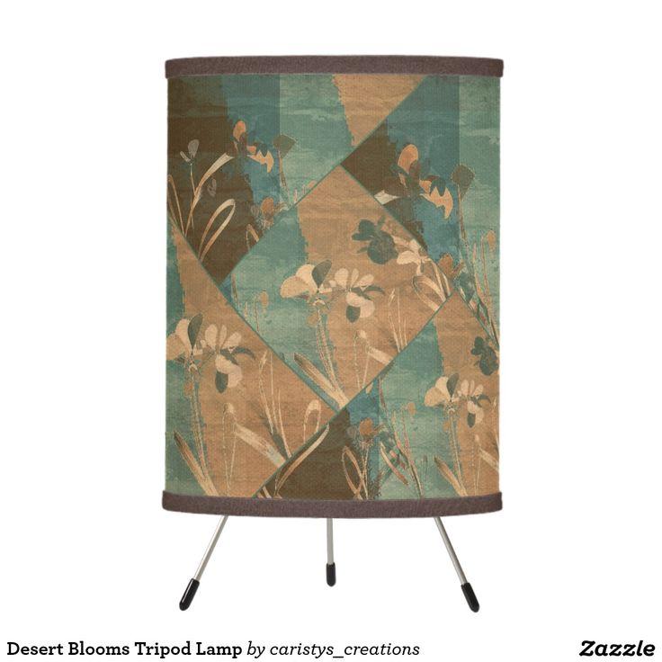 Desert Blooms Tripod Lamp