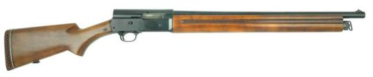 Remington Model 11 riot shotgun  Designed and Patented by John Browning c.1898-1900 and manufactured by Remington Arms c.1905-1947 - serial number 465991. This one is a WW2 production. 12 gauge four-shell tubular magazine, long-recoil semi-automatic, hunting scenes engraving.