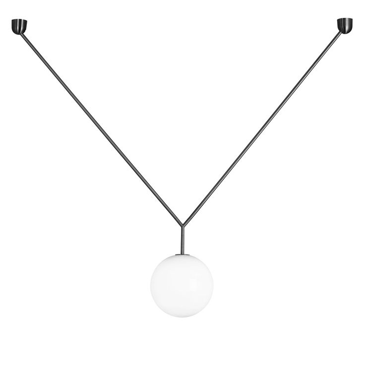 Flos Notch. Notch recalls the beautiful simplicity of a pendant necklace. A daring, dangling, yet perfectly balanced light. Offering adjustable height via its varying angle of the braces, this suspension lamp has adjustable height available in matt brushed brass.