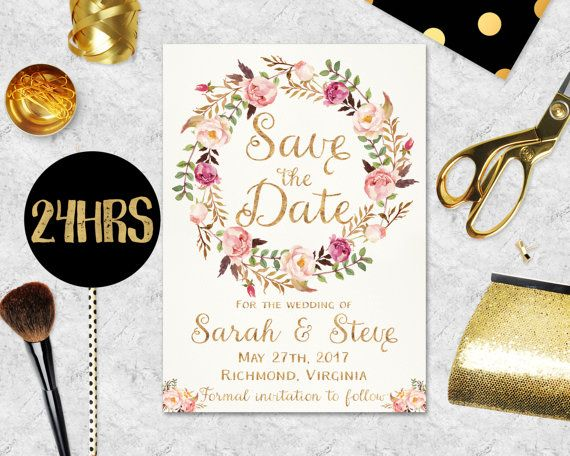Printable Save the Date Template Save the date by Sunnyprint