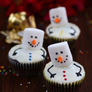 snowmen cupcakes-1