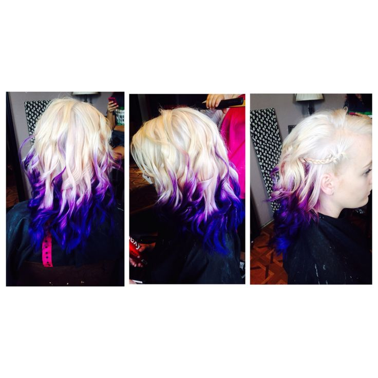 Platinum Blonde And Purple Ombr 233 Punk Hair Style Crazy