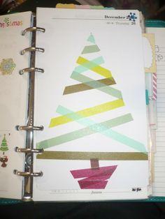 washi tape christmas tree - Google Search
