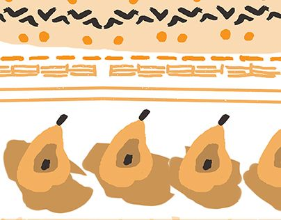 """Check out new work on my @Behance portfolio: """"A Pattern of Pears"""" http://on.be.net/1OfbXtw"""