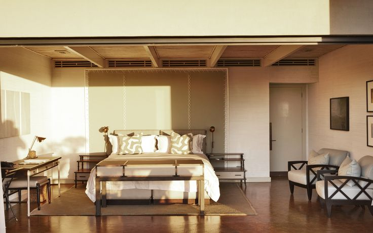 """<p>Opened in April 2010, the Delaire Graff Estate Lodges and Spa sit within the Helshoogte Mountain Pass outside Cape Town. Created for Laurence Graff <span class=""""caps"""">OBE</span>, owner of the Delaire Graff Estate, the design of each lodge is inspired by the local Cape Dutch architecture with a palette that takes inspiration from the backdrop of the wine lands. Grass papers, end grain flooring, polished plasters, hand woven rugs and textured leathers create a refined feel using indigeno..."""