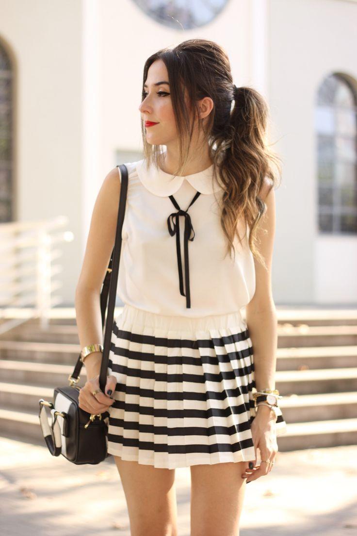 FashionCoolture - 20.04.2016 look du jour black and white preppy outfit stripes oxford (5)