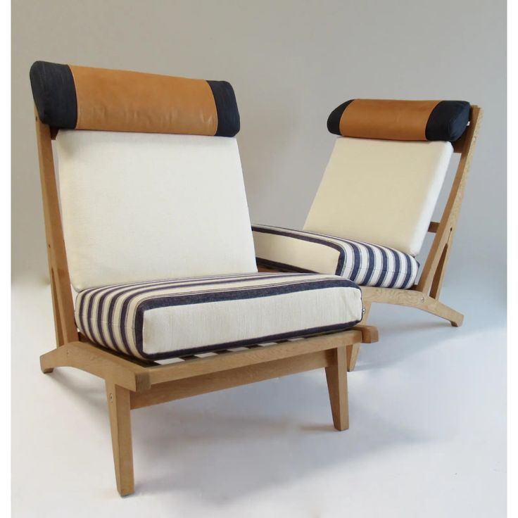 Circa 1960s hans j wegner denmark getama lounge chairs