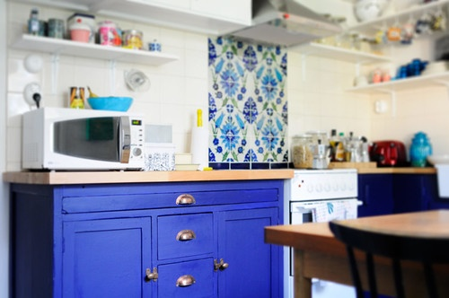 Kitchen Remodel part II « Kootut murut old cabinet with colour, lovely