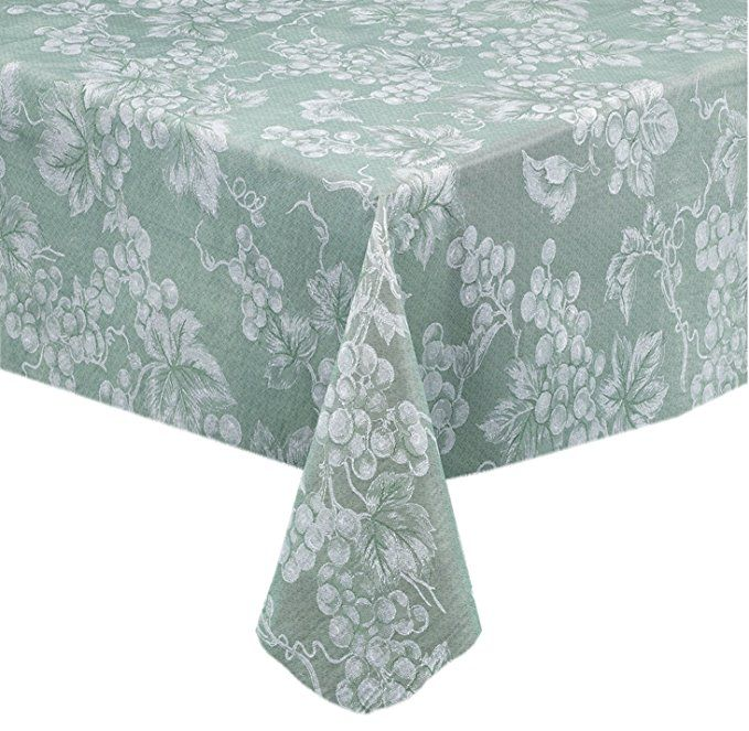 Grapevines Contemporary Grape Print Heavy 4 Gauge Vinyl Flannel Backed Tablecloth Indoor Outdoor Wipe Cl Vinyl Tablecloth Table Cloth Contemporary Tablecloths