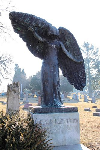 Black Angel, Oakland Cemetery, Iowa City IA... http ...