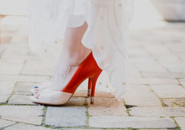 pop of red shoes | Heirloom Collective #wedding