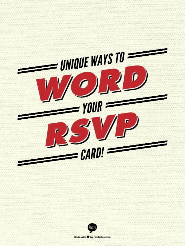 Wedding Rsvp Wording How to Uniquely Word