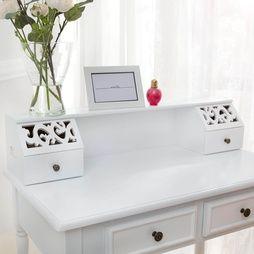 Sminkbord med pall i antik stil