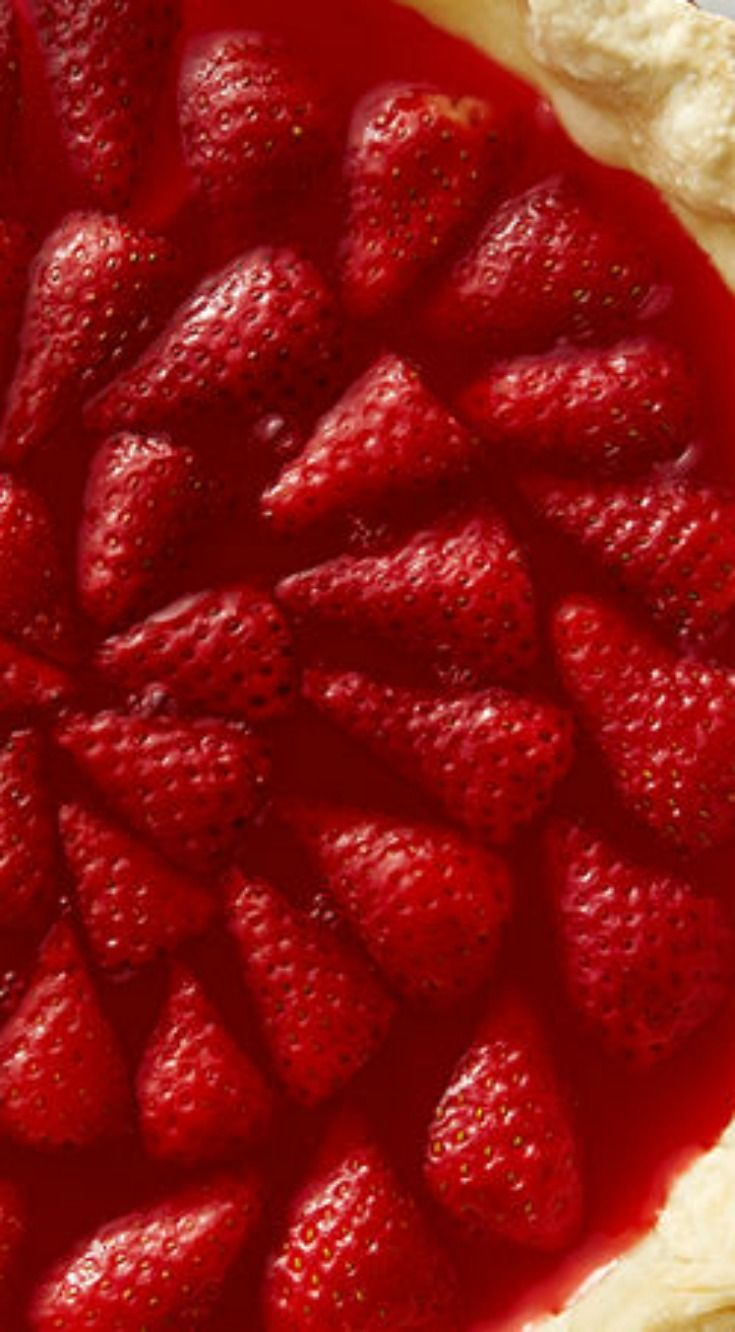 Retro Jello Strawberry Pie ~ This gelatin pie filled with fresh strawberries is a classic taste of summer.