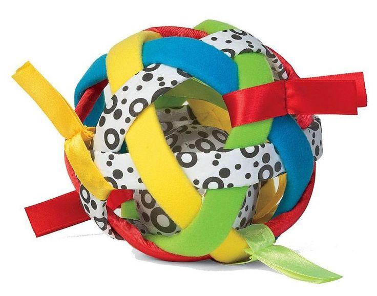 Tęczowa piłka wiele tekstur Manhattan Toy | ZABAWKI \ Zabawki sensoryczne \ Mała motoryka ZABAWKI \ Zabawki dla niemowląt \ Edukacyjne Manhattan Toy | Hoplik.pl wyjątkowe zabawki