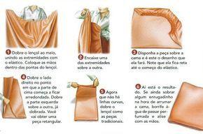 dobrar lençol com elástico