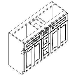 VA6021DD - Vanity Base Cabinet with Drawers