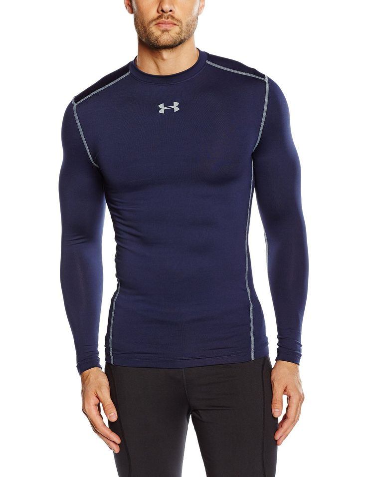 Men's Under Armour ColdGear Armour Compression Crew 87% Polyester, 13% Elastane Dual-layer fabric with an ultra-warm, brushed interior & a slick, fast-drying exterior 4-way stretch fabrication allows greater mobility in any direction. Moisture Transport System wicks sweat & dries fast. Smooth, chafe-free flatlock seam construction.