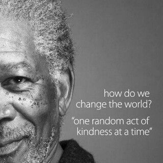 One act of kindness.........