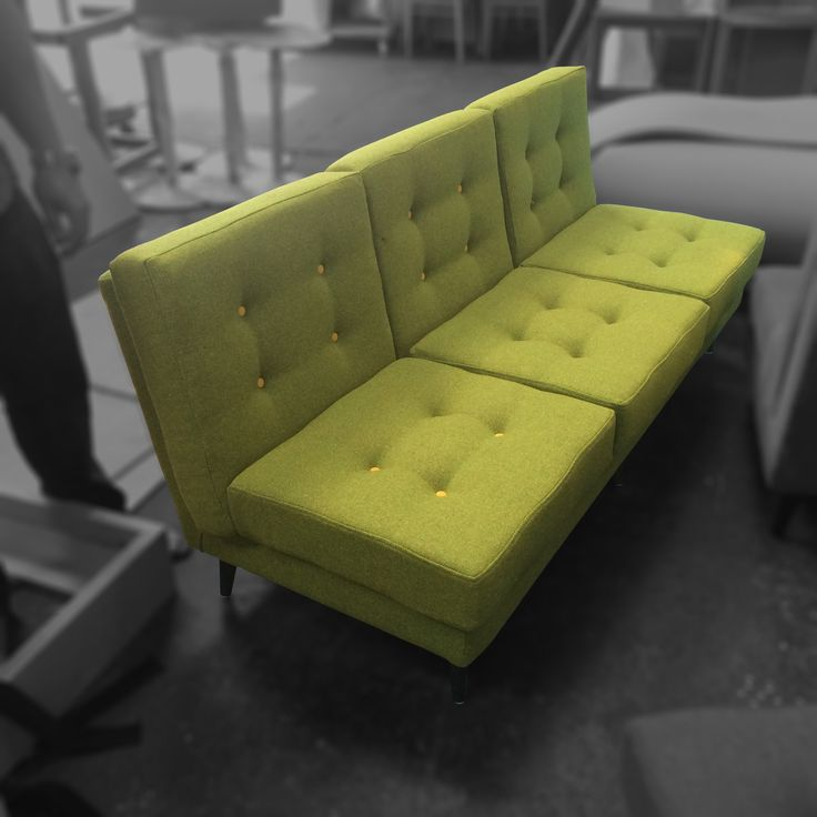 Bespoke #retro Sofa In Bute Melrose Moss Fabric For Boston Tea Party,  Plymouth