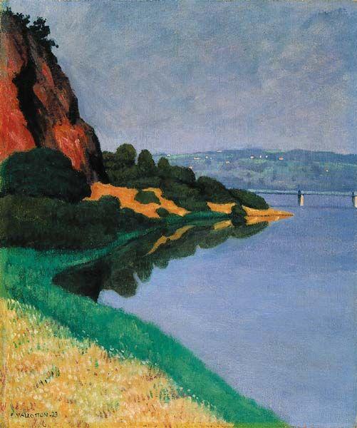 Bords de la Loire à Champtoceaux, 1923. Huile sur toile. 55 x 46 cm. Coll. part. en savoir plus: Fondation Félix Vallotton