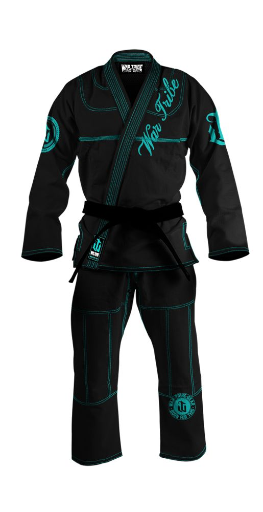 black and teal womens GI... LOVE the color! :) the words aren't necessary