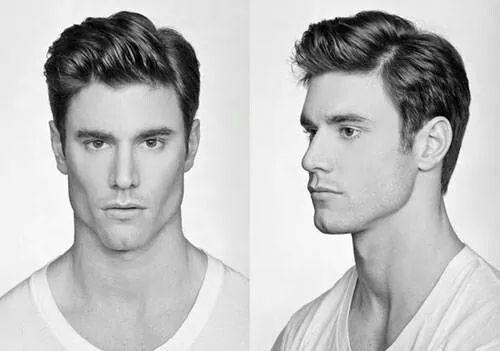 Medium hair, haircut men