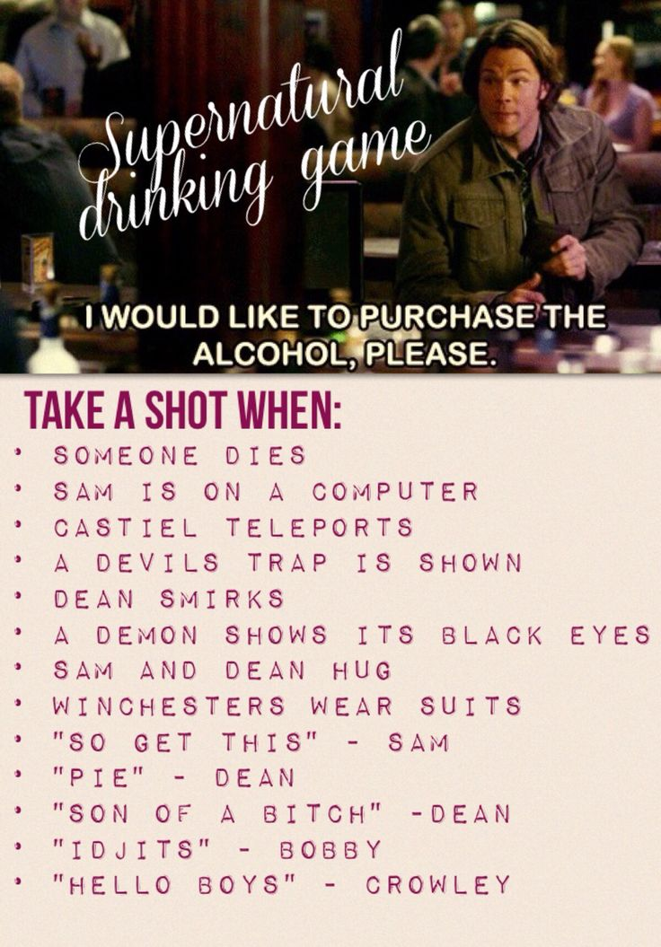 #supernatural #drinking #game