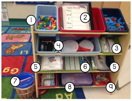 Kindergarten Smiles: Word Work- center organization