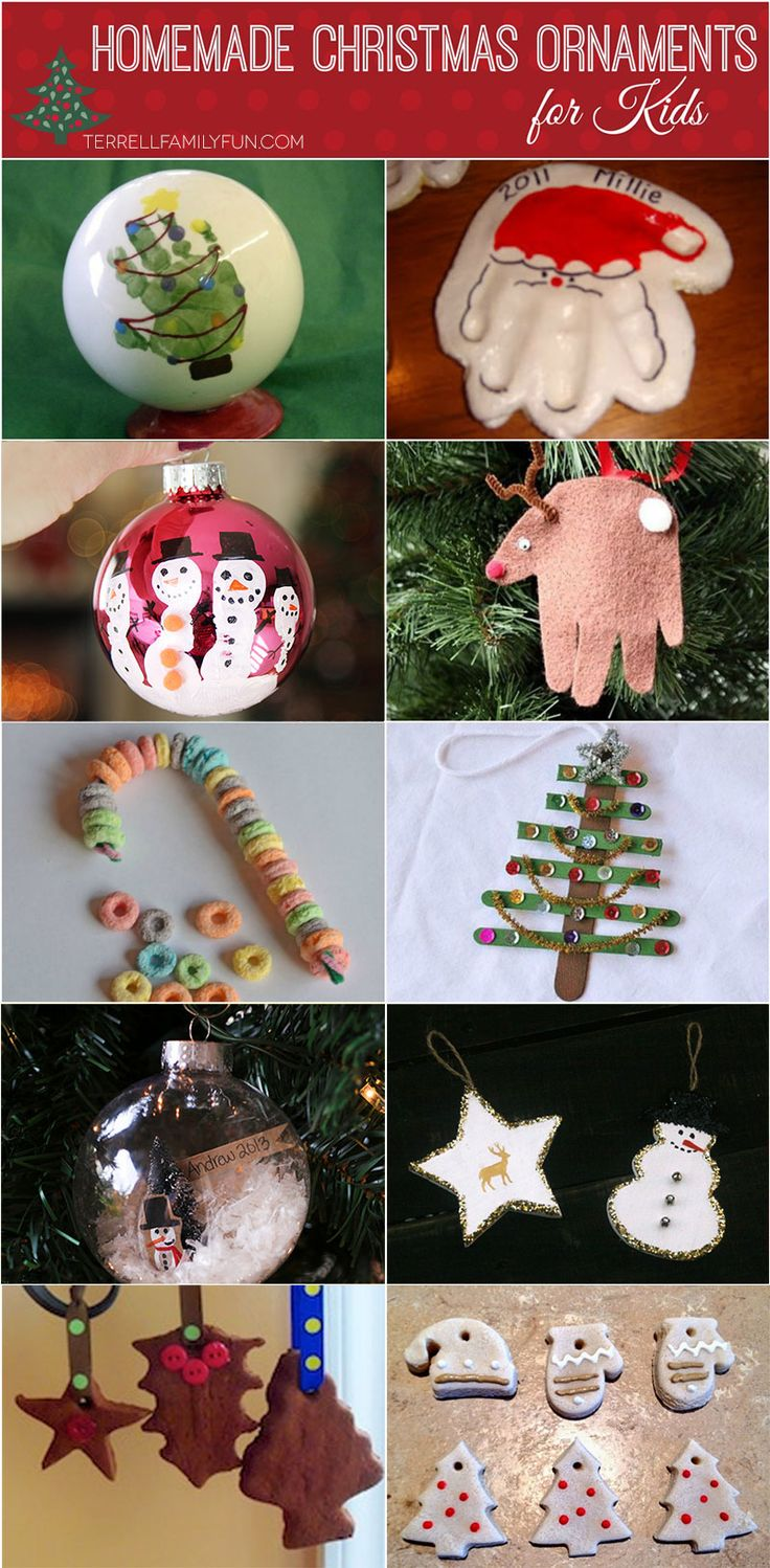 Homemade #Christmas Ornaments for Kids #Crafts #DIY