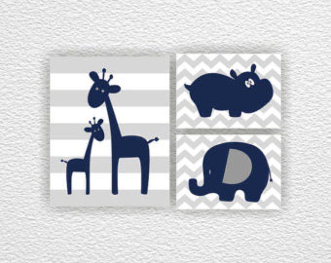 Menta y animales de la selva gris León Hippo jirafa elefante