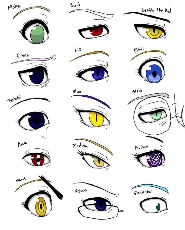 Anime Characters Eyes : Best soul eater ideas on pinterest death