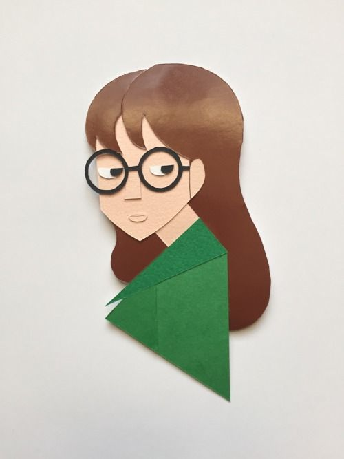 Papercut of Daria Morgendorffer
