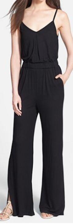 sleek #black jumpsuit http://rstyle.me/n/jgi5mpdpe