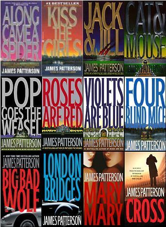 James Patterson books--I have read them all!